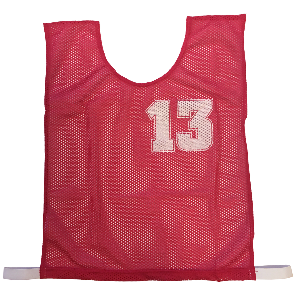 Basketball Numbered Bibs Set - Size XXL - Colour Red