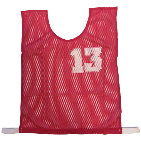 Basketball Numbered Bibs Set, Size: XXL, Colour: Red