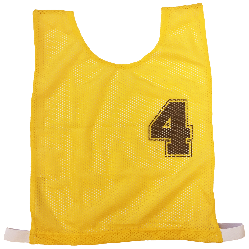 Basketball Numbered Bibs Set - Size XXL - Colour Yellow