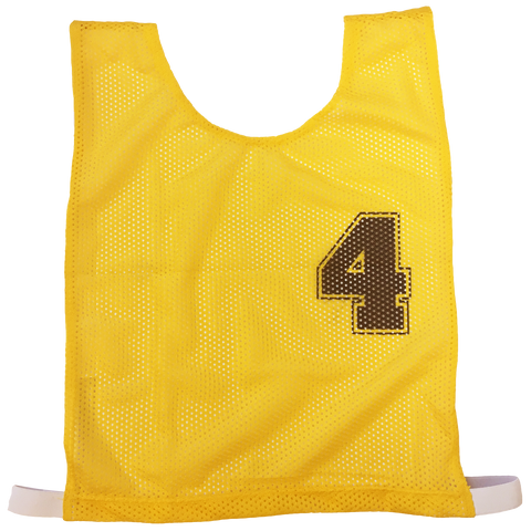 Image of Basketball Numbered Bibs Set - Size XXL - Colour Yellow