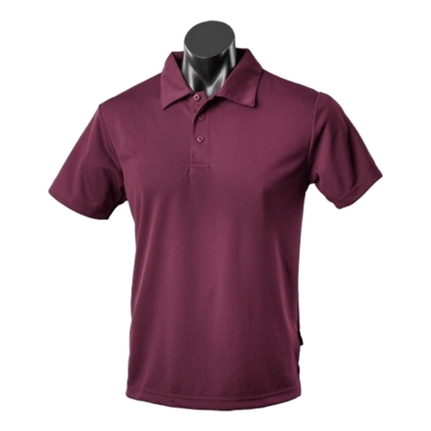 Image of Kids Botany Polo, Colour: Maroon
