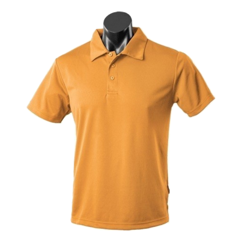 Image of Mens Botany Polo, Colour: Gold