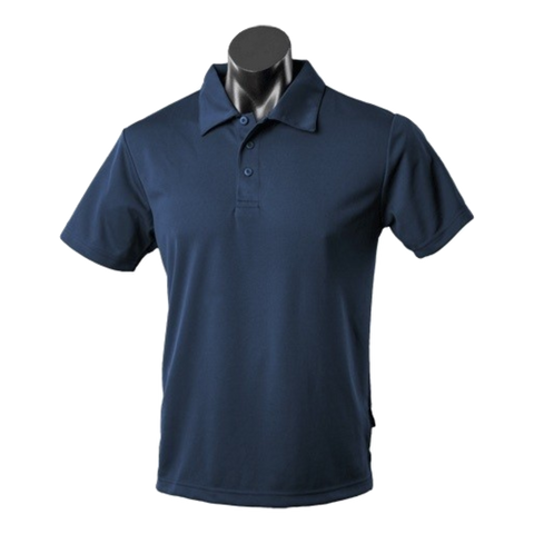 Image of Mens Botany Polo - Colour Navy