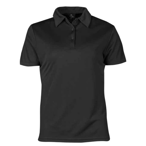 Image of Womens Botany Polo - Colour Black