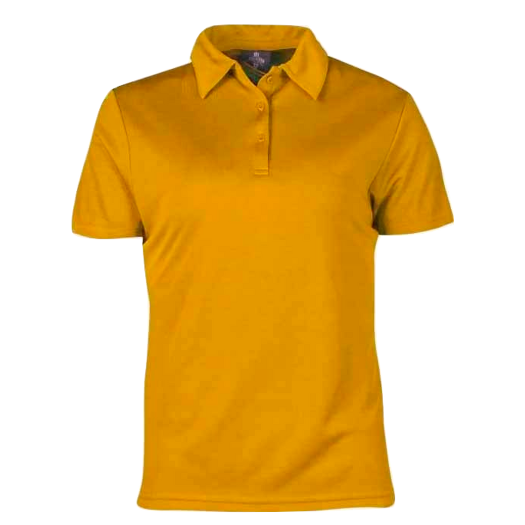 Womens Botany Polo, Colour: Gold