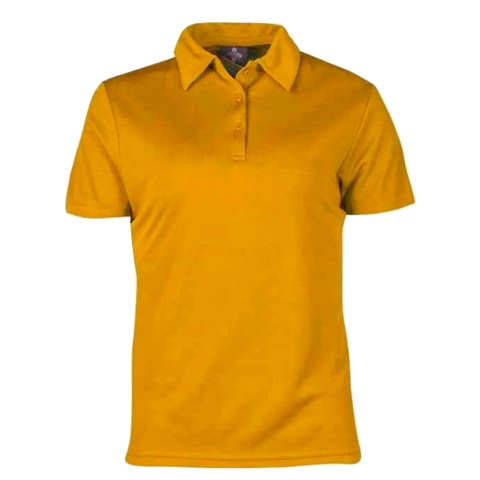 Image of Womens Botany Polo, Colour: Gold