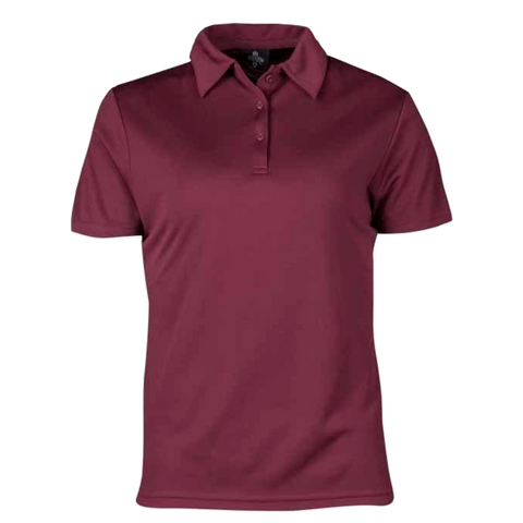 Image of Womens Botany Polo - Colour Maroon
