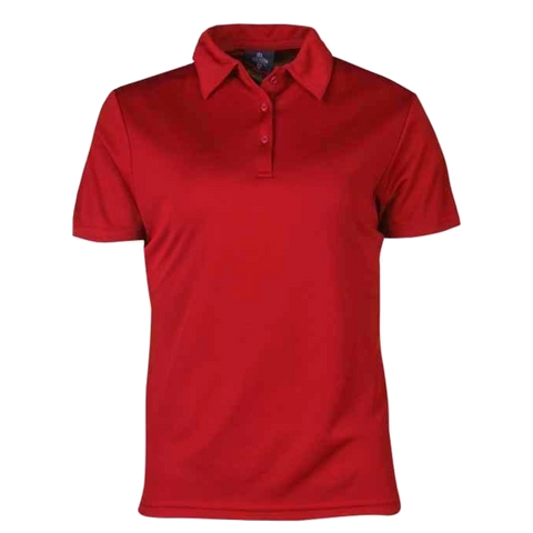 Womens Botany Polo, Colour: Red