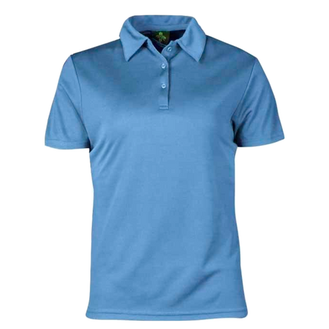Image of Womens Botany Polo, Colour: Sky