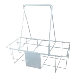 Bottle Carrier - Plastic Coated Wire - Capacity 8 Bottles