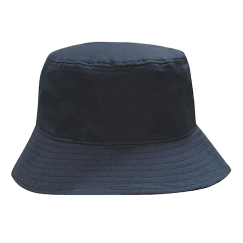 Breathable Poly Twill Bucket Hat, Size: M, Colour: Navy
