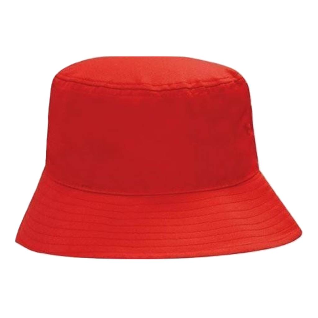 Breathable Poly Twill Bucket Hat - Size M - Colour Red
