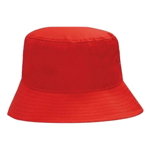 Breathable Poly Twill Bucket Hat, Size: M, Colour: Red