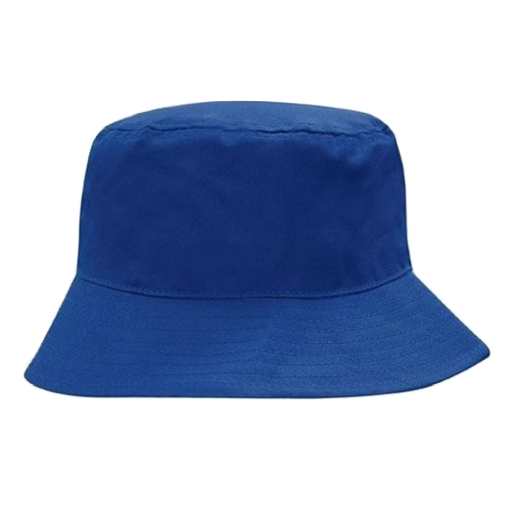 Breathable Poly Twill Bucket Hat - Size M - Colour Royal