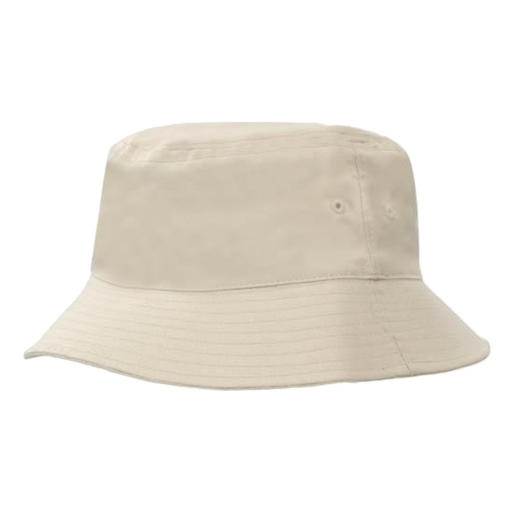 Breathable Poly Twill Bucket Hat, Size: M, Colour: Stone