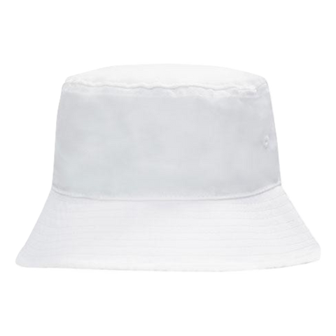Breathable Poly Twill Bucket Hat, Size: M, Colour: White