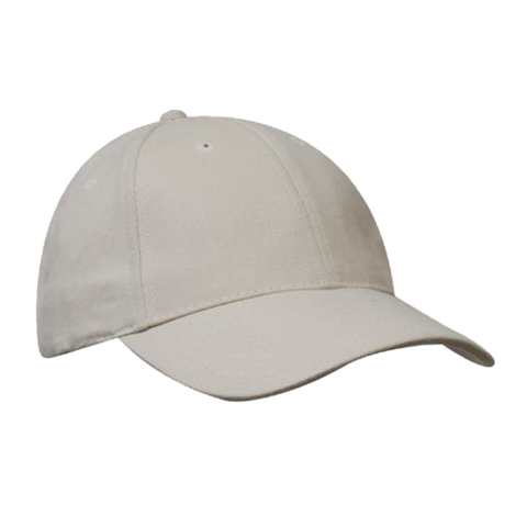 Brushed Heavy Cotton Cap, Colours: Natural
