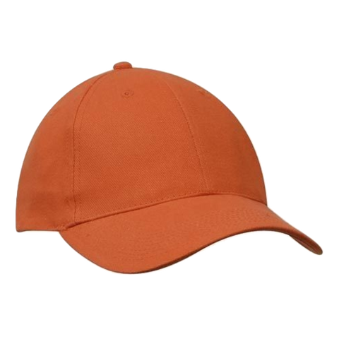 Brushed Heavy Cotton Cap - Colours Orange