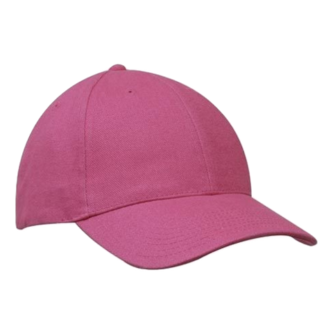 Image of Brushed Heavy Cotton Cap - Colours Pink