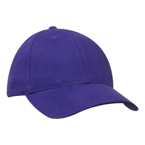 Brushed Heavy Cotton Cap - Colours Purple