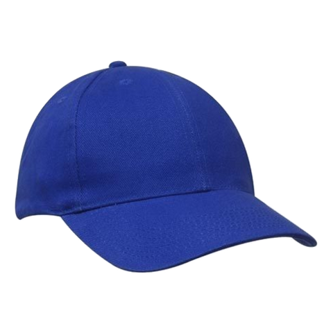 Image of Brushed Heavy Cotton Cap, Colours: Royal