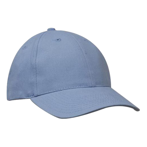 Brushed Heavy Cotton Cap, Colours: Sky
