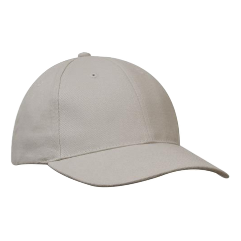 Brushed Heavy Cotton Cap, Colours: Stone