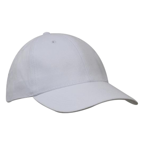 Brushed Heavy Cotton Cap - Colours White