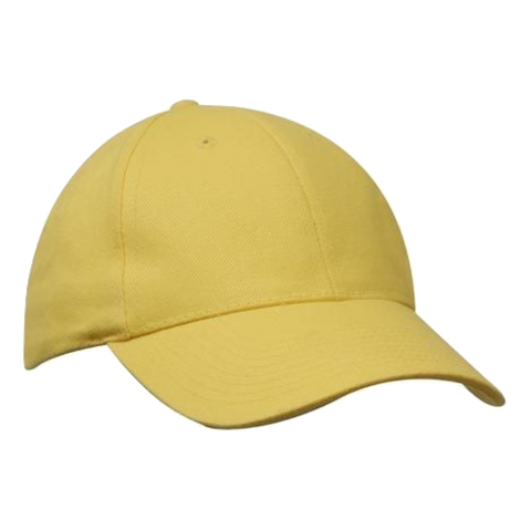 Image of Brushed Heavy Cotton Cap - Colours Yellow
