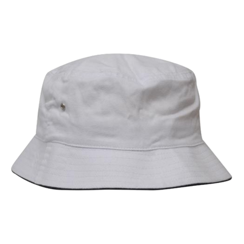 Image of Brushed Sports Twill Bucket Hat, Size: L / XL, Colours: Stone / Navy