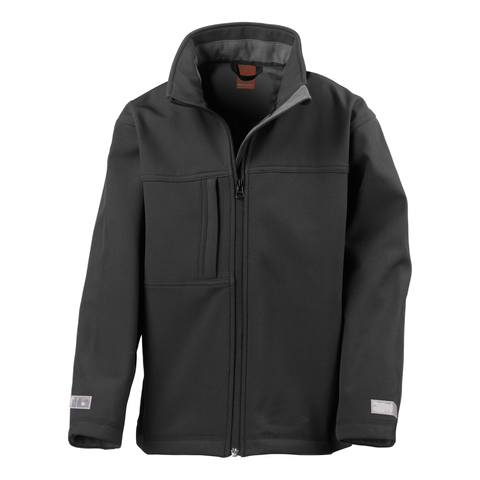Kids Classic Softshell Jacket - Colour Black