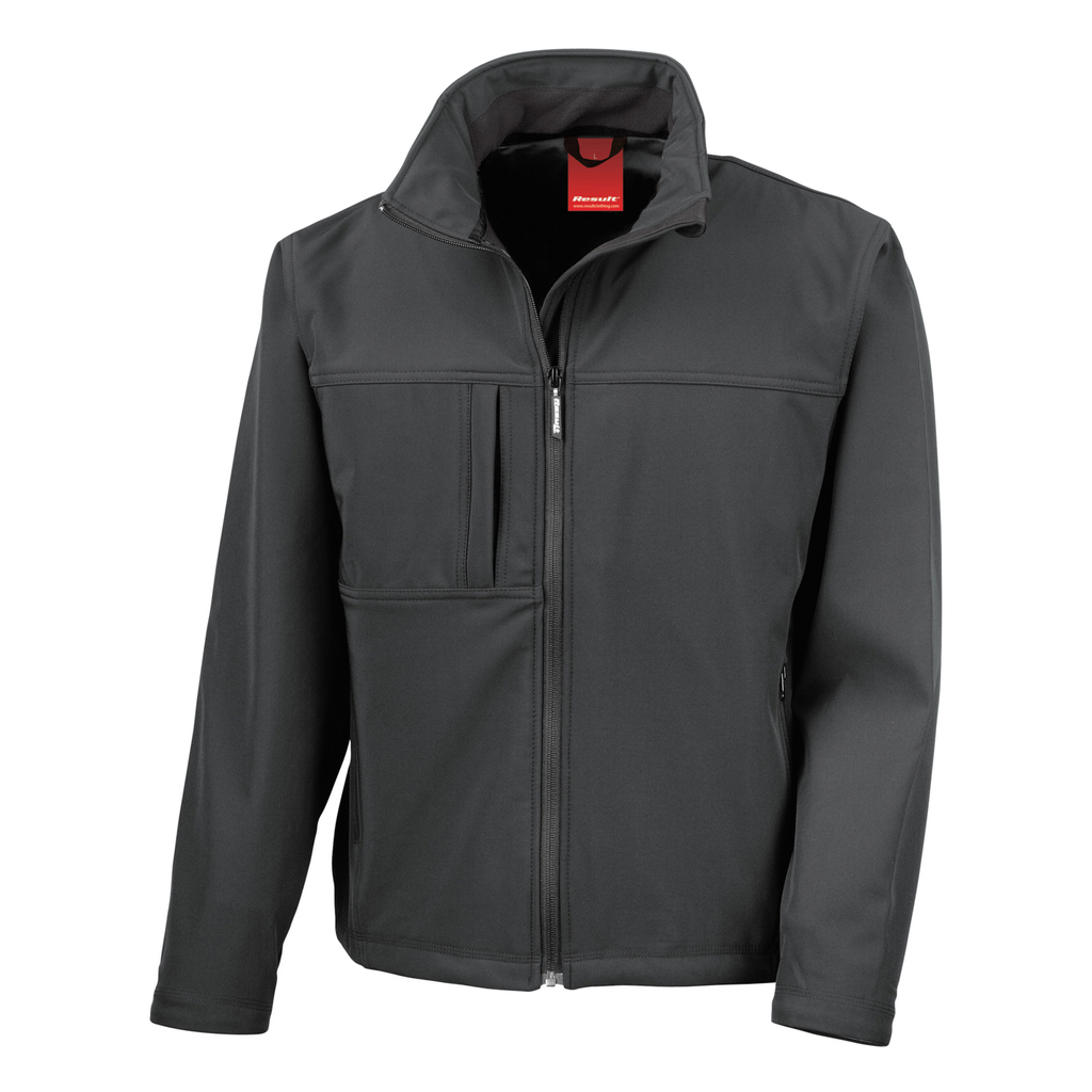 Mens Classic Softshell Jacket - Colour Black