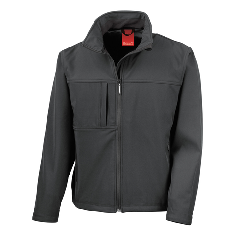 Image of Mens Classic Softshell Jacket, Colour: Black