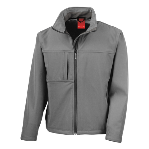 Mens Classic Softshell Jacket, Colour: Grey