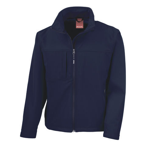 Image of Mens Classic Softshell Jacket - Colour Navy
