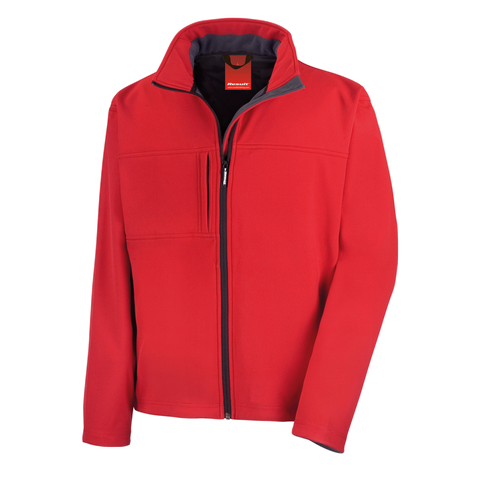 Mens Classic Softshell Jacket, Colour: Red