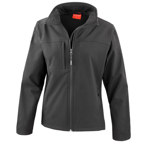 Image of Womens Classic Softshell Jacket - Colour Black