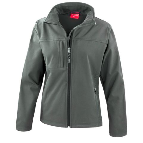 Image of Womens Classic Softshell Jacket - Colour Grey