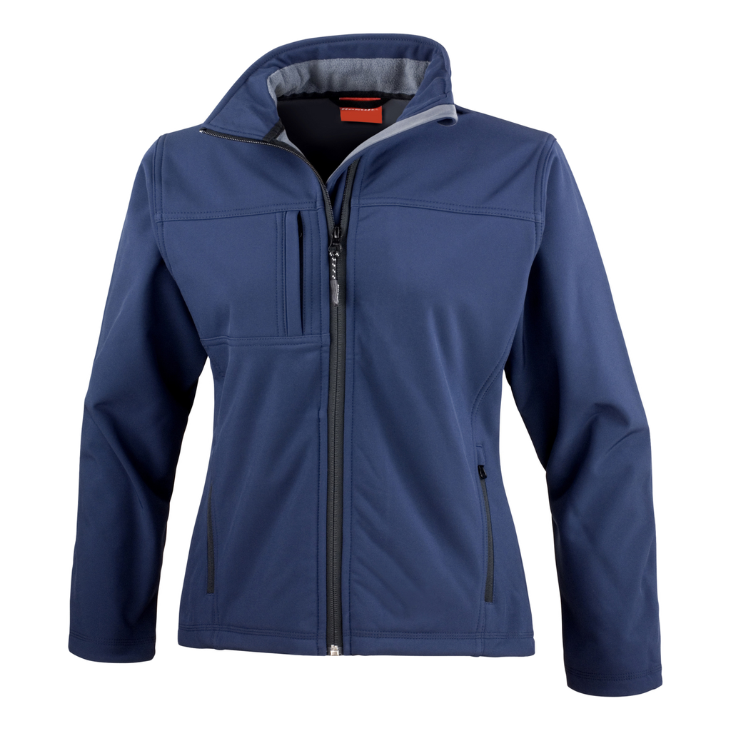 Womens Classic Softshell Jacket - Colour Navy