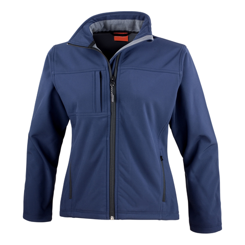 Image of Womens Classic Softshell Jacket - Colour Navy