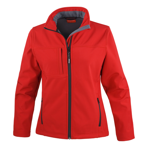 Image of Womens Classic Softshell Jacket - Colour Red
