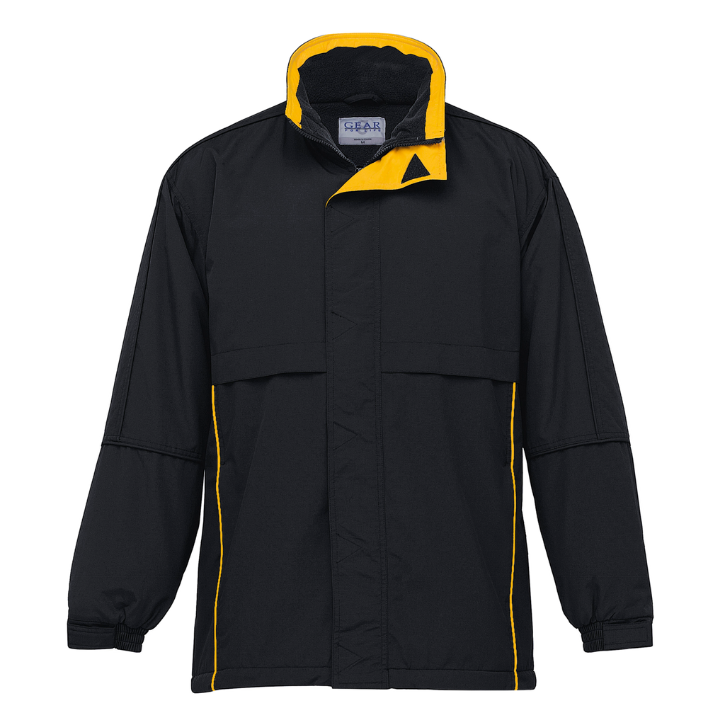 Adults Contrast Basecamp Anorak - Colours Black / Gold