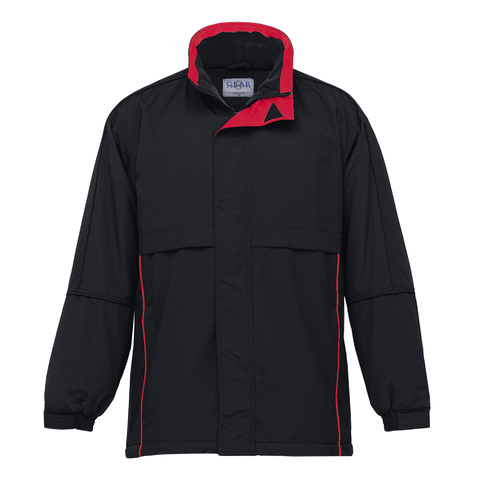 Image of Adults Contrast Basecamp Anorak - Colours Black / Red