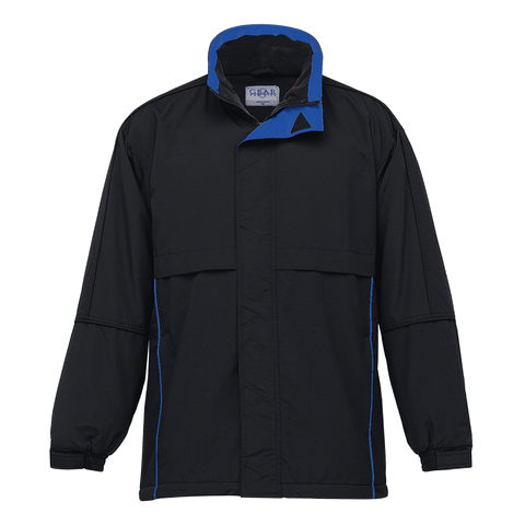 Image of Adults Contrast Basecamp Anorak - Colours Black / Royal
