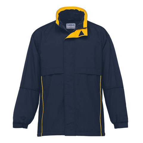 Image of Adults Contrast Basecamp Anorak - Colours Navy / Gold