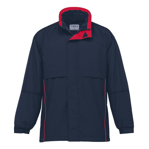 Image of Adults Contrast Basecamp Anorak - Colours Navy / Red