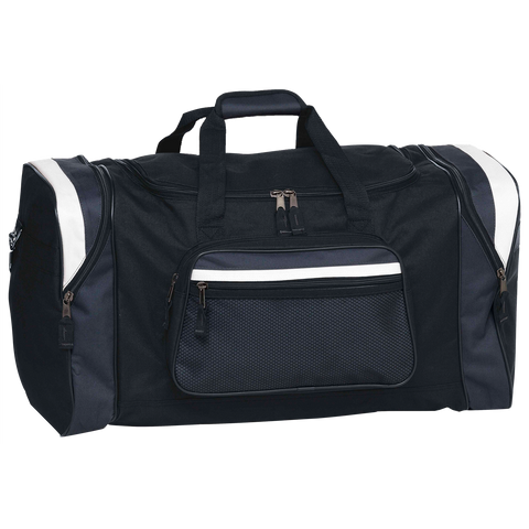 Image of Contrast Gear Sports Bag, Colours: Black / Charcoal / White