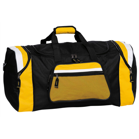 Contrast Gear Sports Bag, Colours: Black / Gold / White