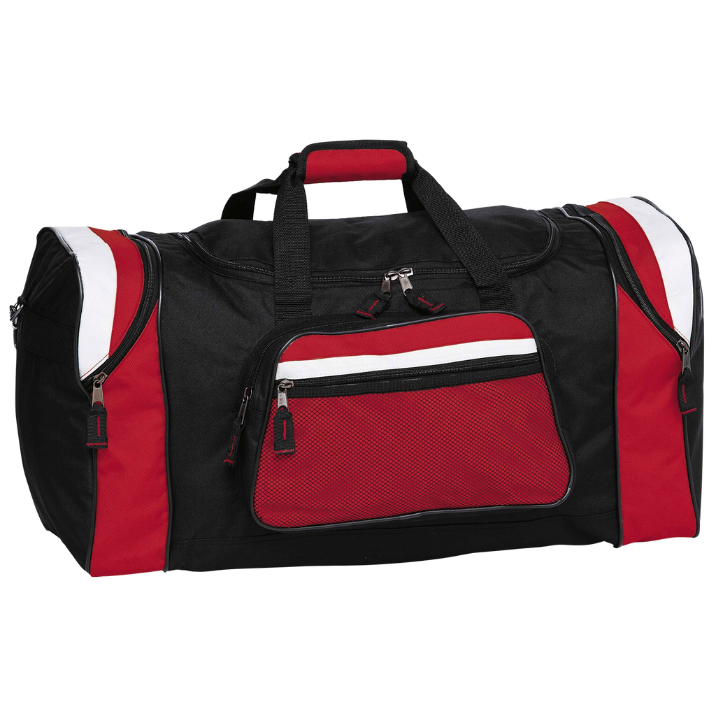 Contrast Gear Sports Bag - Colours Black / Red / White