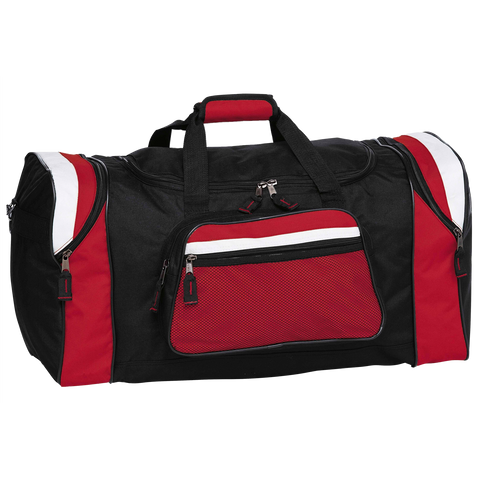 Image of Contrast Gear Sports Bag - Colours Black / Red / White